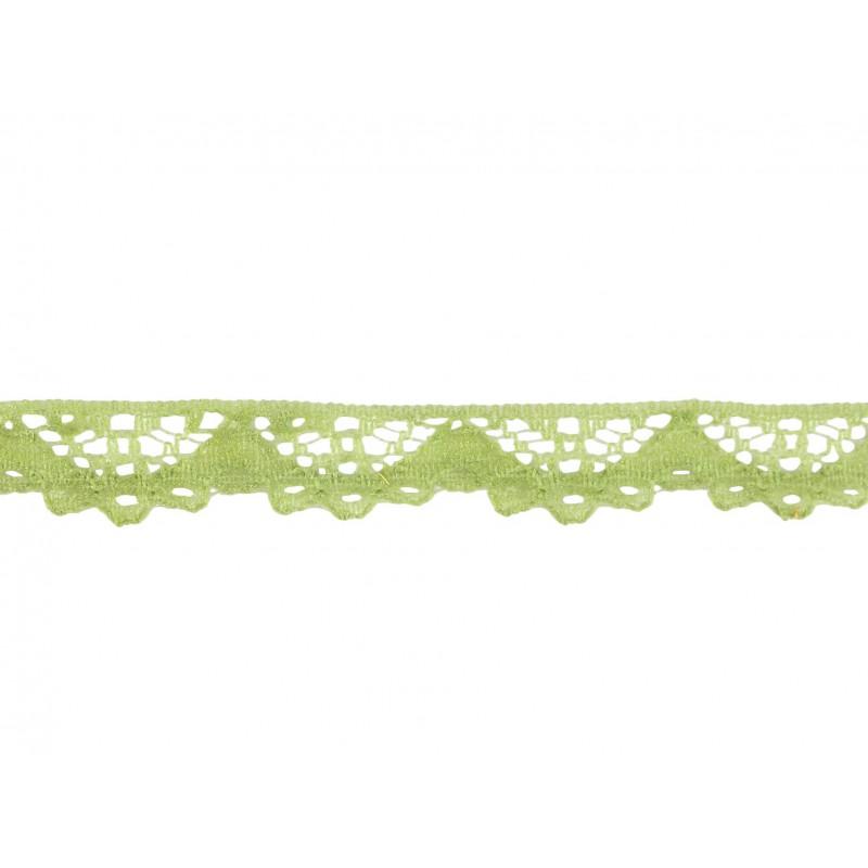 Puntilla nylon verde 1 cm