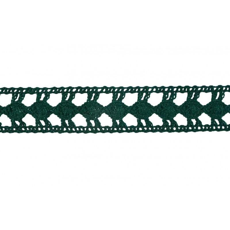 Puntilla hilo verde 2,5 cm