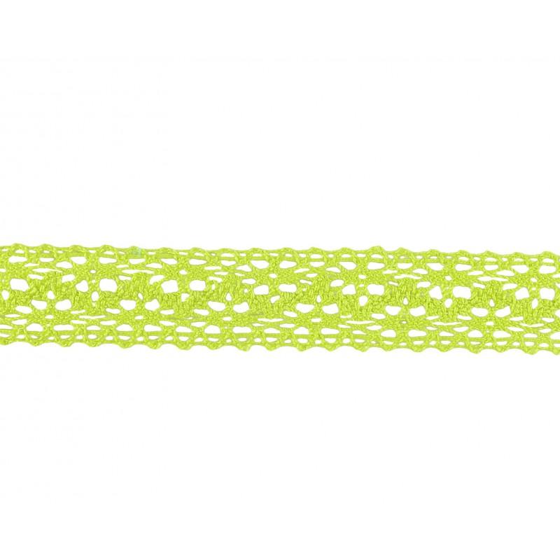Puntilla hilo verde 2 cm