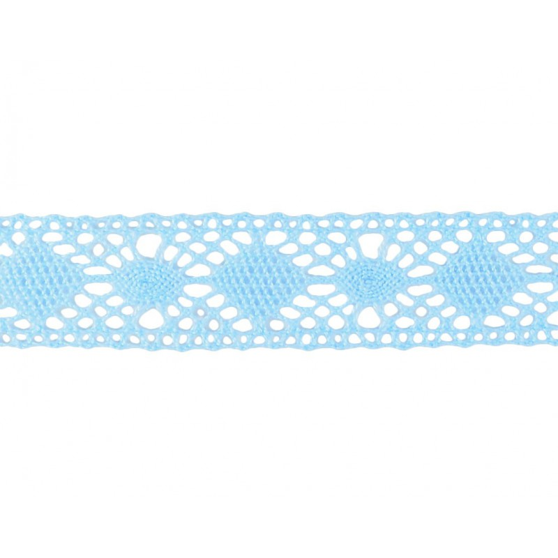 Puntilla hilo azul 2,5 cm