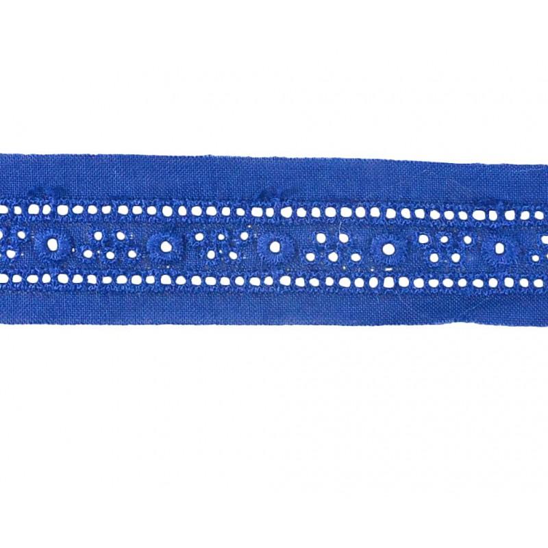 Tira bordada azul 2,5 cm