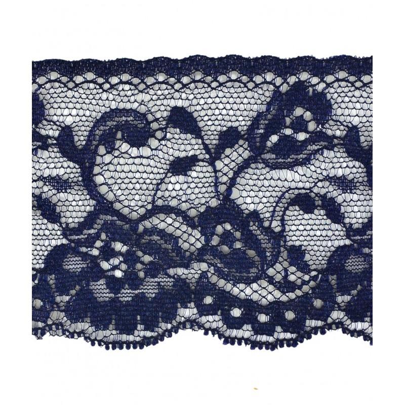 Puntilla nylon azul 6 cm