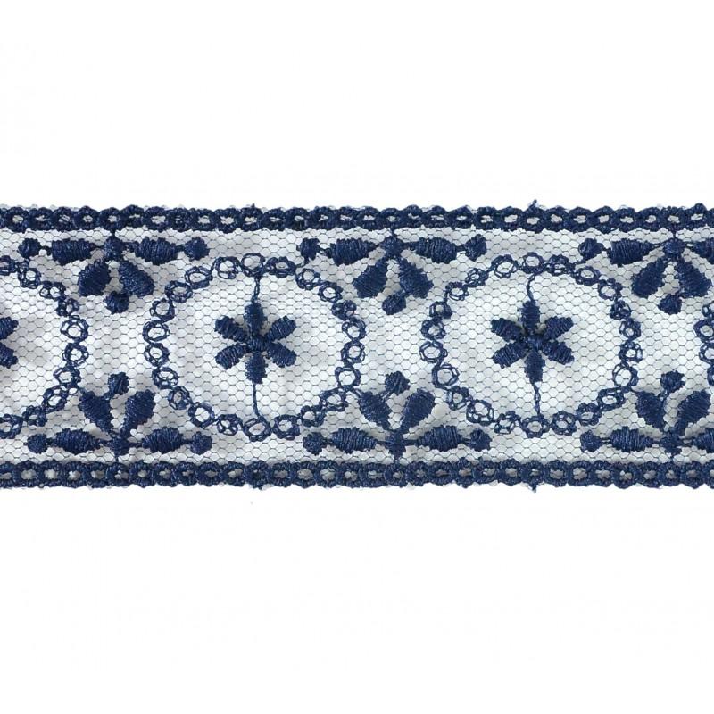 Puntilla cristal azul 3 cm