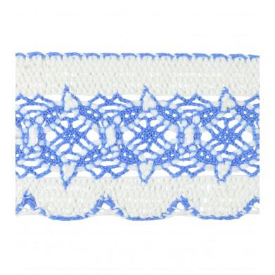 Puntilla hilo azul 5,5 cm