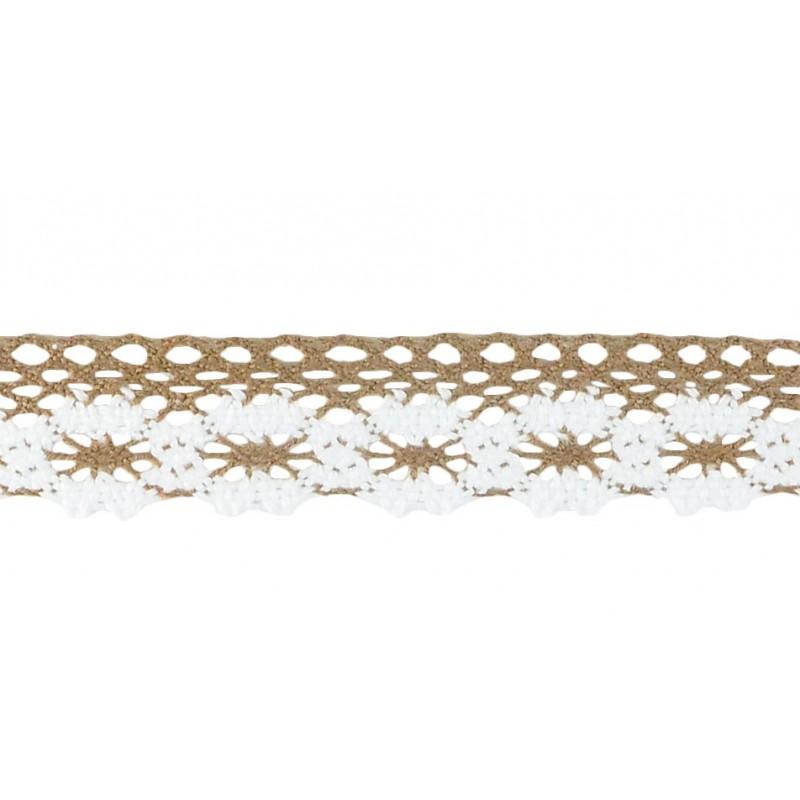 Puntilla hilo marrón 2,5 cm