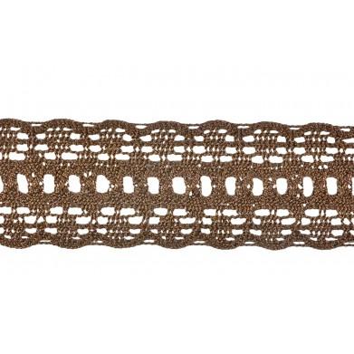 Puntilla hilo marrón 4,5 cm