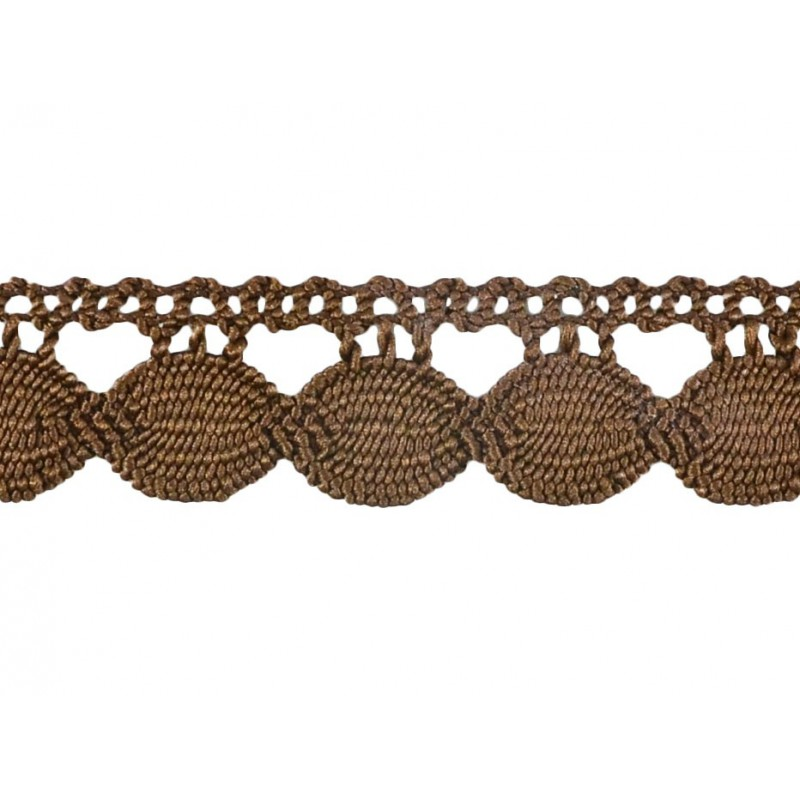 Puntilla hilo marrón 3 cm