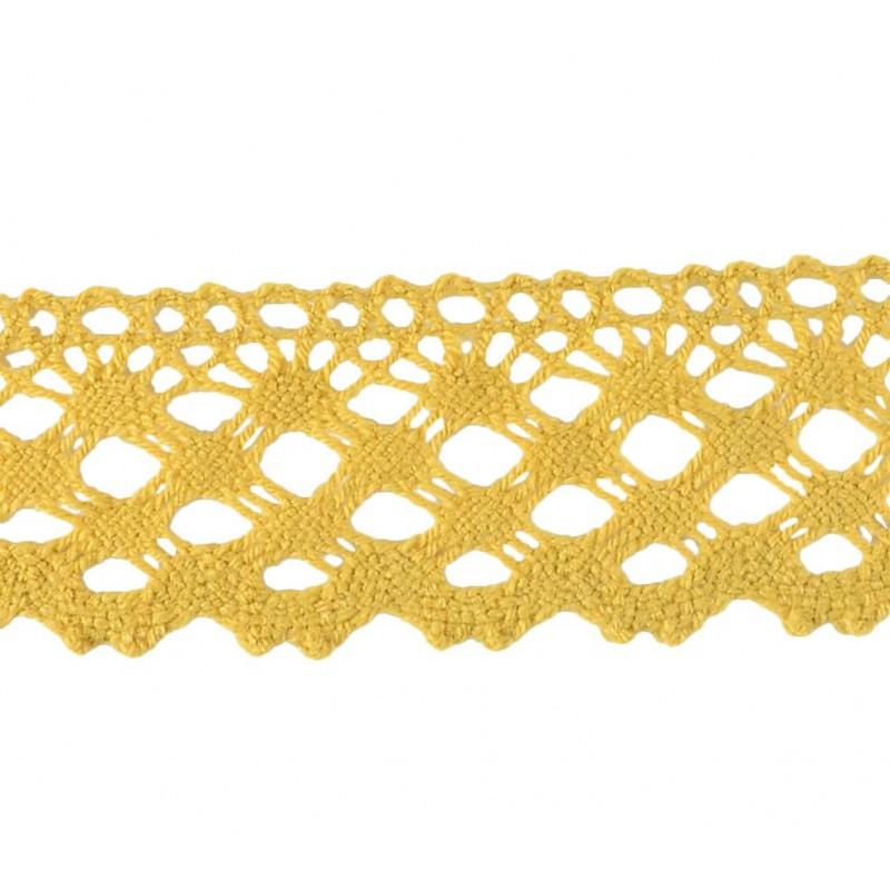 Puntilla lana marrón 4,5 cm