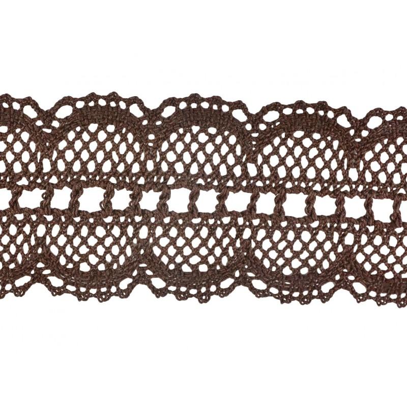 Puntilla hilo marrón 6 cm