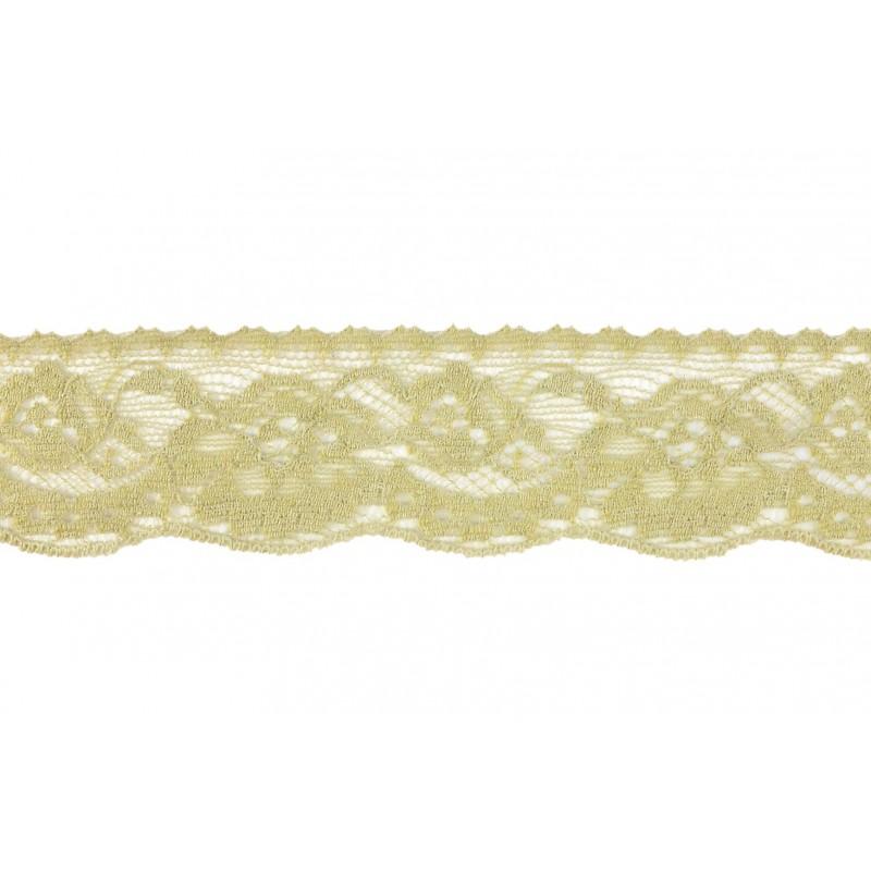 Puntilla nylon marrón 3,5 cm