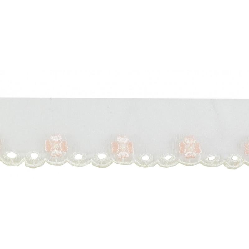 Puntilla cristal blanco/rosa claro 3 cm