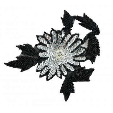 Flor hojas negras