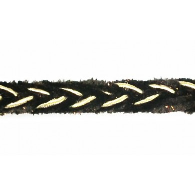 Pasamanería marrón 1 cm