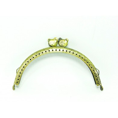 Boquilla monedero oro viejo gatitos 12,5 cm