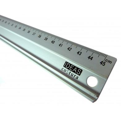Regla metálica un metro