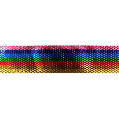 Cinta metalizada arcoiris