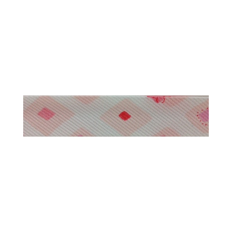 Bies - estampado peces rosa (18 mm)