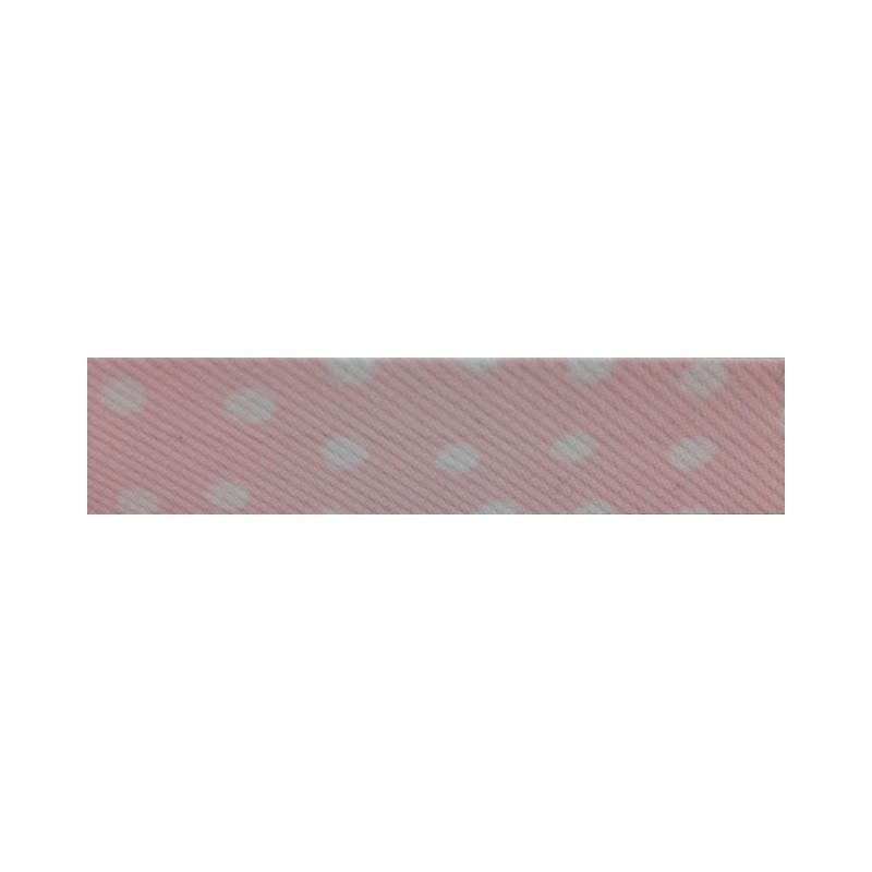 Bies - rosa con lunares blancos (18 mm)