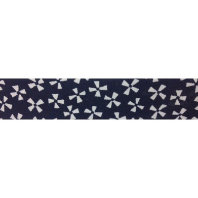 Bies - azul y flores blancas (18 mm)