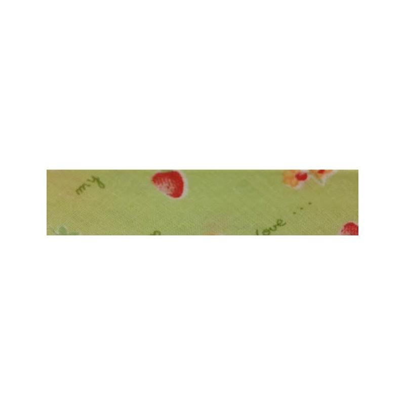 Bies - verde con fresas (18 mm)