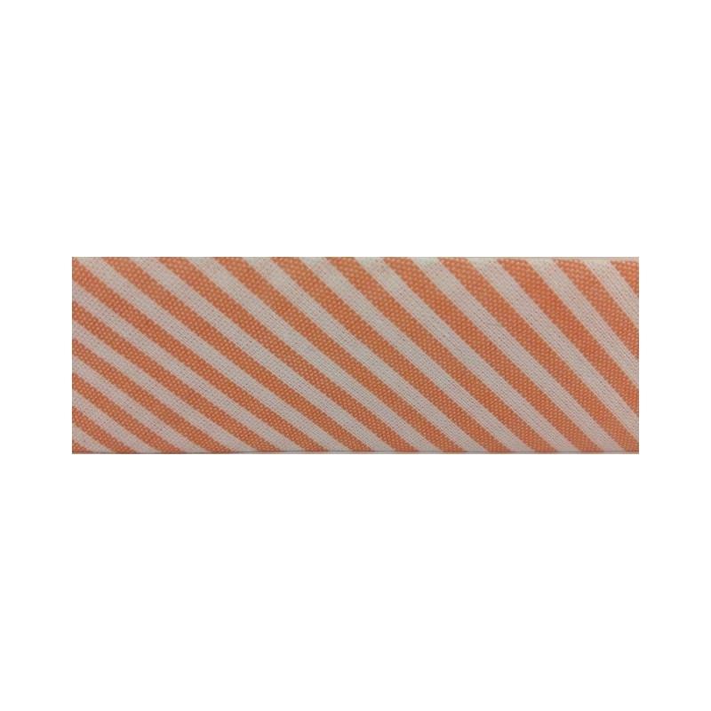 Bies - rayas naranja y blancas (30 mm)