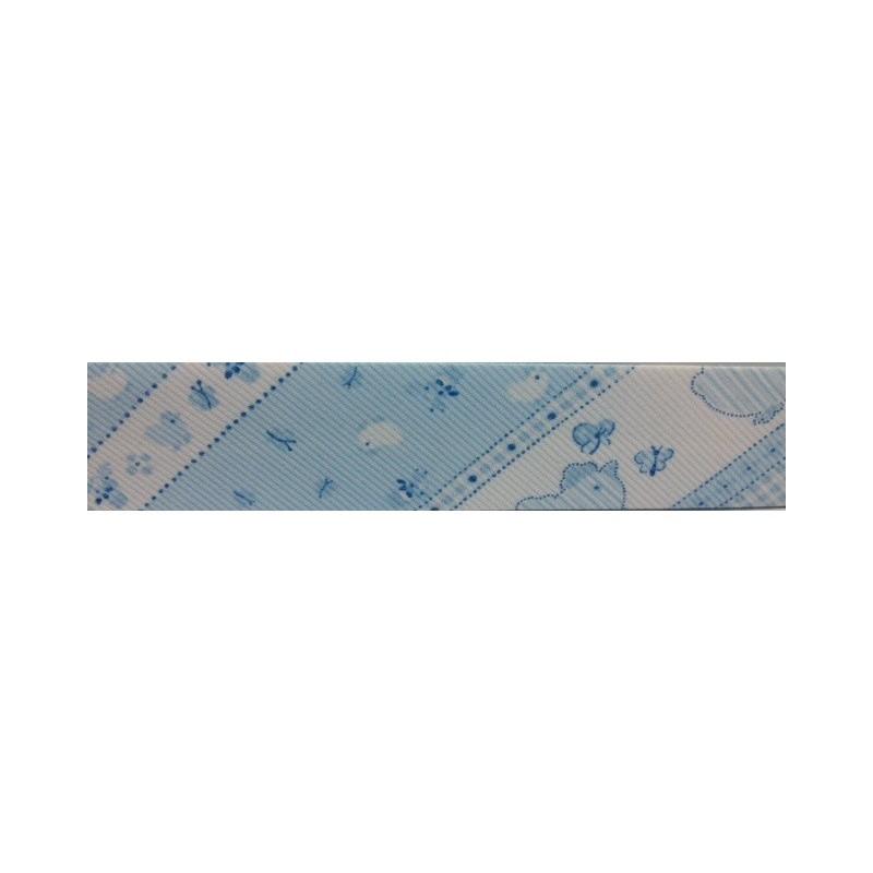 Bies - azul con pollitos (30 mm)