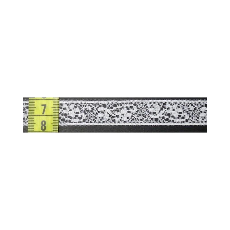 Puntilla nylon blanca 1,5 cm
