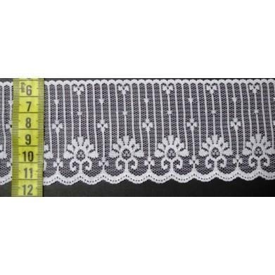 Puntilla nylon blanca 6,5 cm