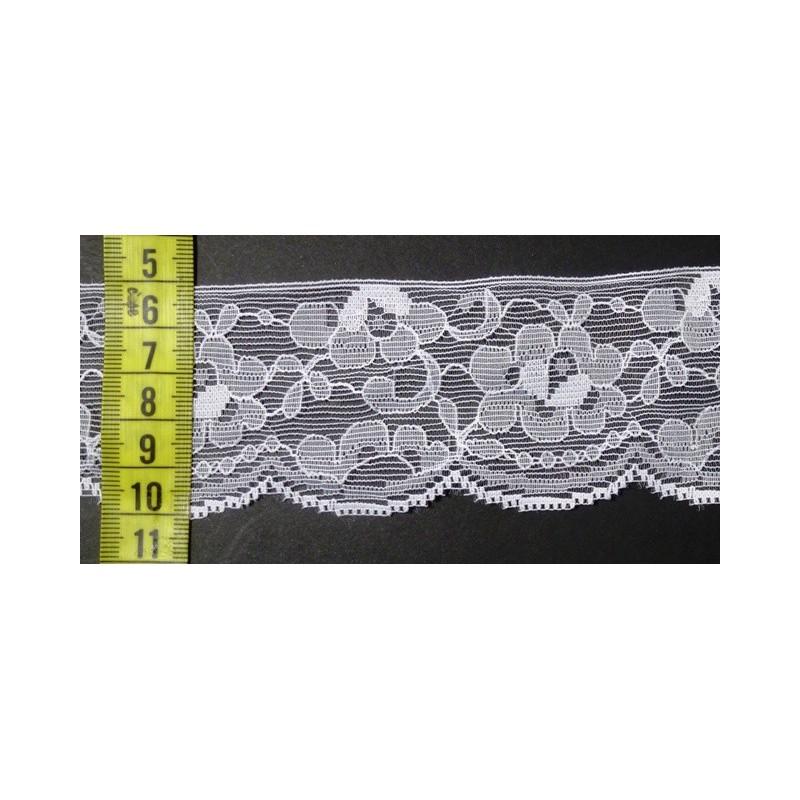Puntilla nylon blanca 5 cm