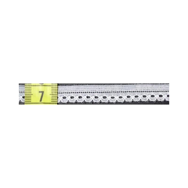 Puntilla nylon blanca 1 cm