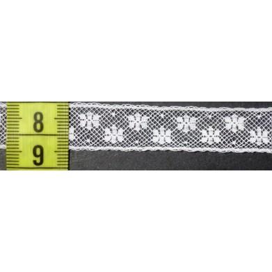 Puntilla valencie blanca 1,3 cm