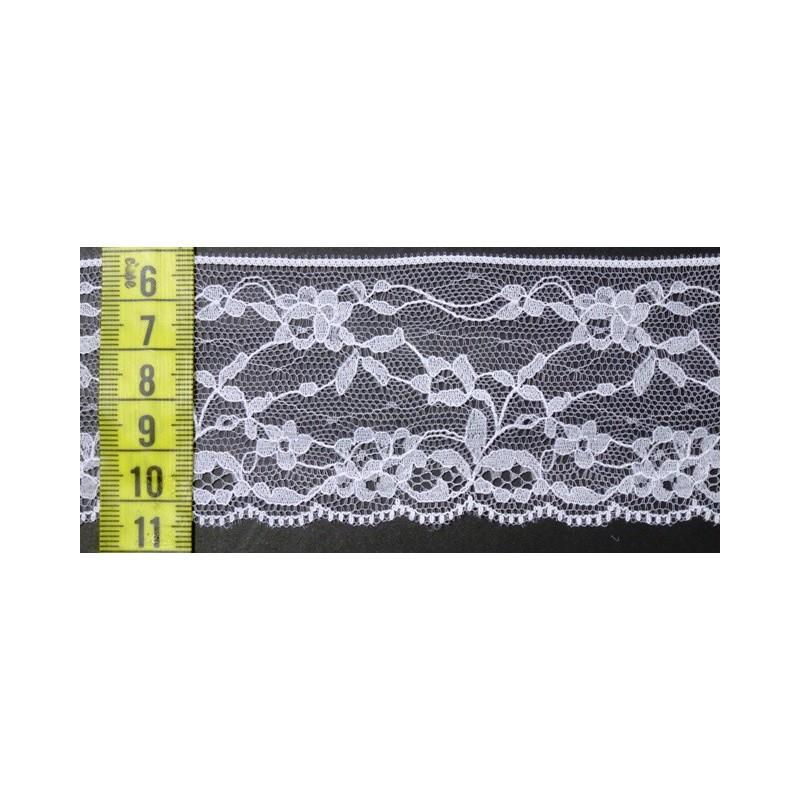 Puntilla nylon blanca 5,5 cm