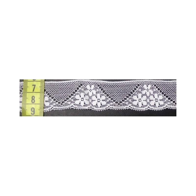 Puntilla valencie blanca 2,5 cm