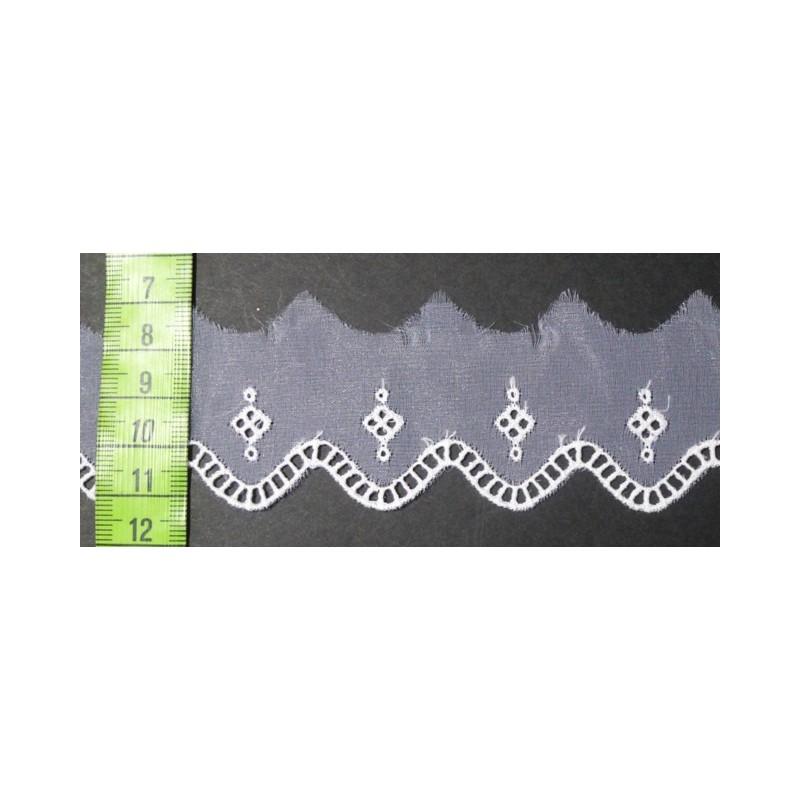 Puntilla cristal blanca 3,5 cm
