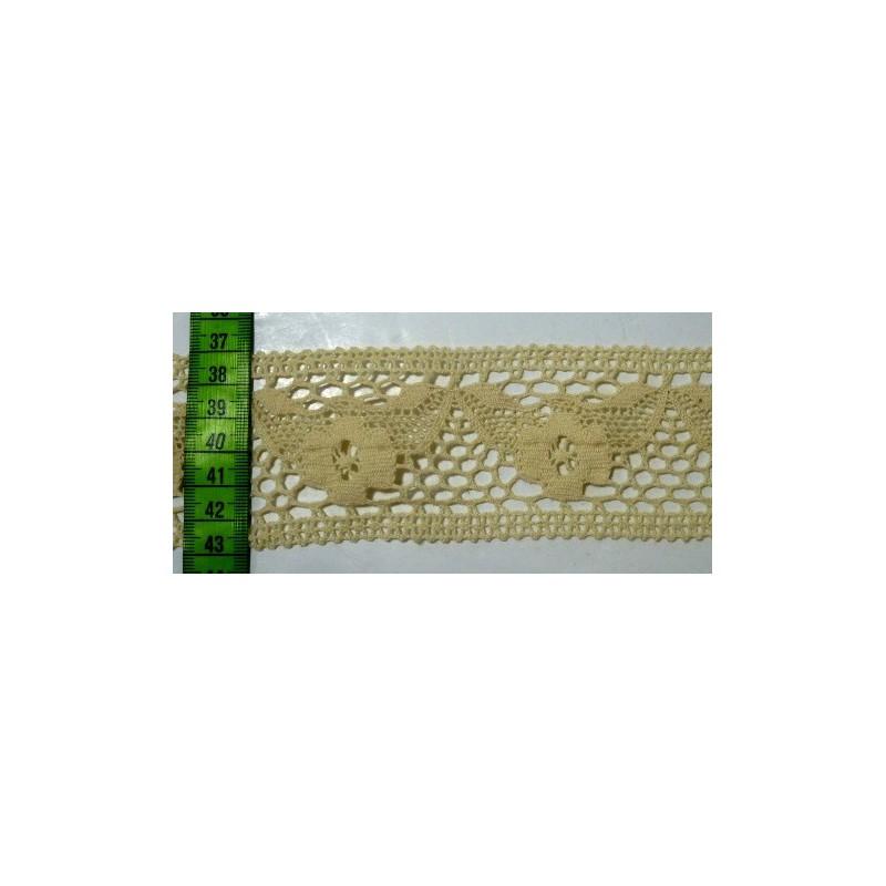 Puntilla hilo beige 5,5 cm