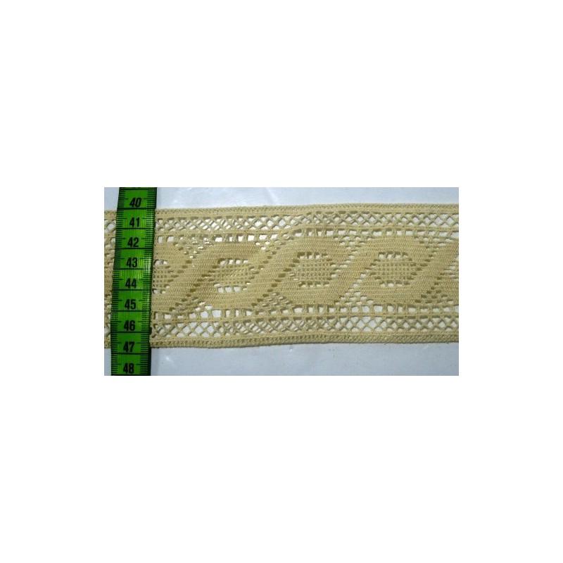Puntilla hilo beige 6,5 cm