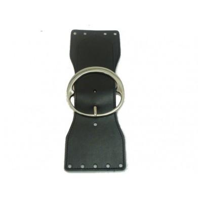 Cierre bolso piel negro 23 cm