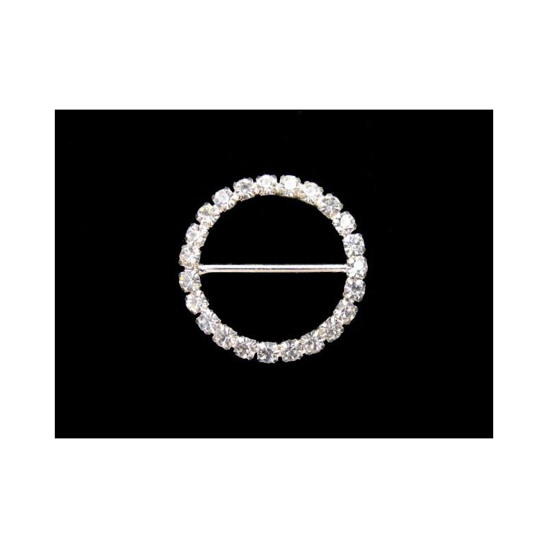 Hebilla pedrería circular 2,5 cm