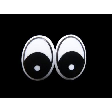 Ojos de seguridad 2 x 1,5 cm