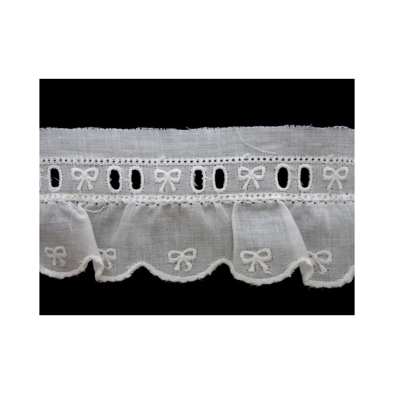 Tira bordada blanca 4,5 cm