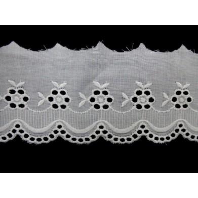 Tira bordada blanca 5 cm