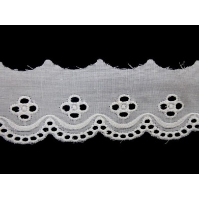 Tira bordada blanca 3.5 cm