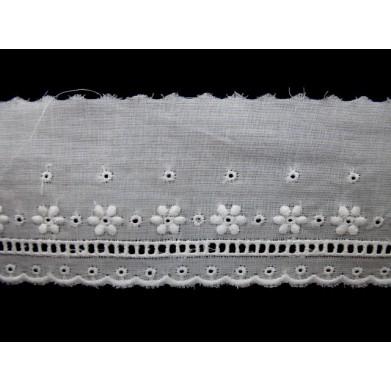 Tira bordada blanca 3,3 cm