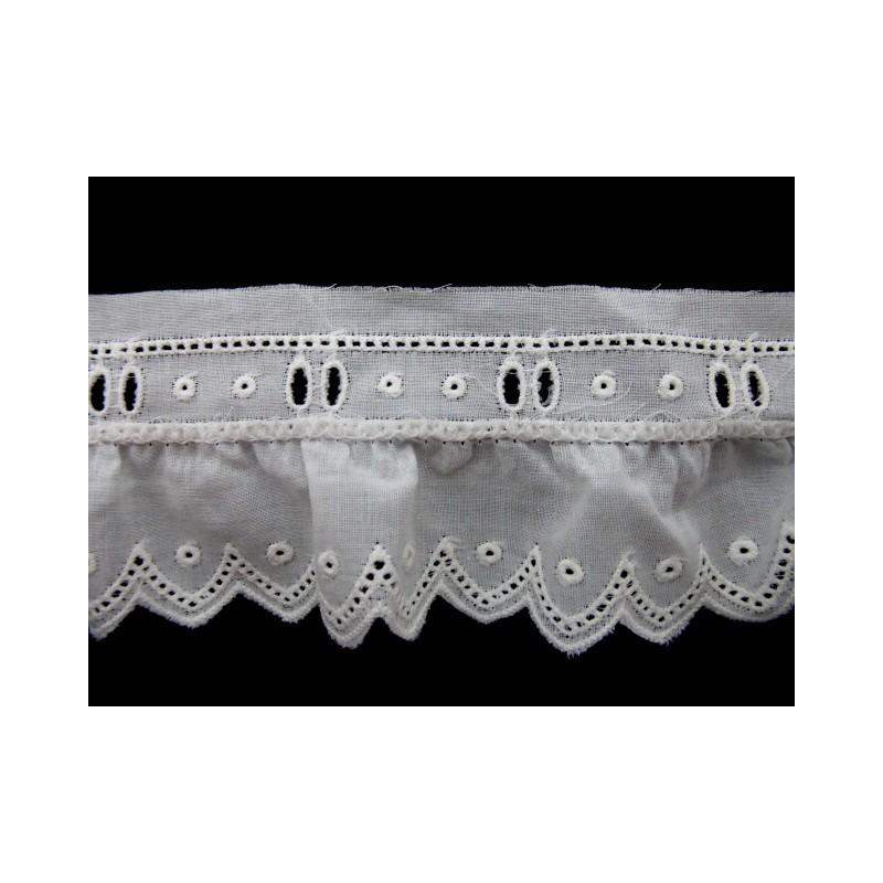 Tira bordada blanca 4 cm