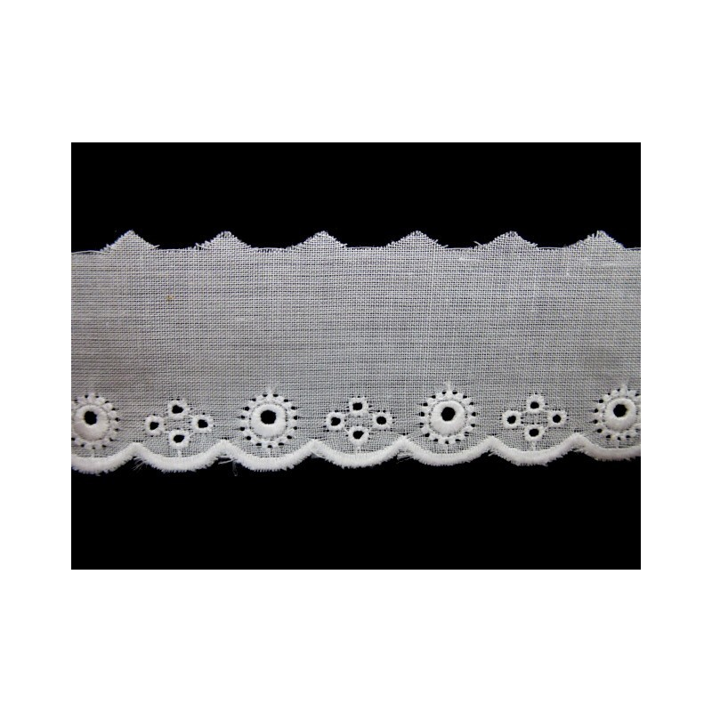 Tira bordada blanca 2 cm