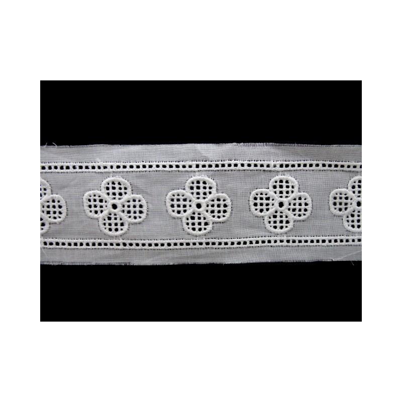 Tira bordada blanca 2,8 cm