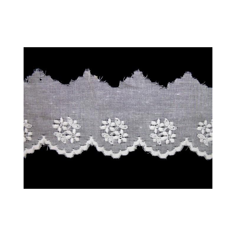 Tira bordada blanca 3 cm
