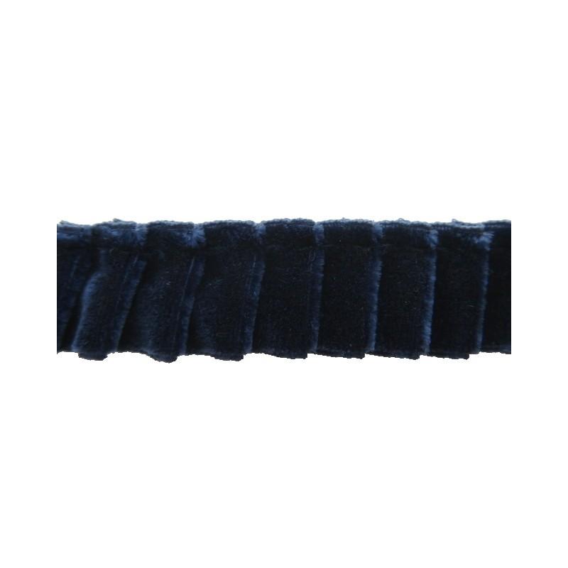Plisado terciopelo marino 16 mm