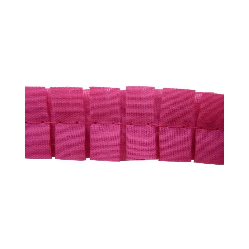 Plisado tablas rosa fucsia 2 cm
