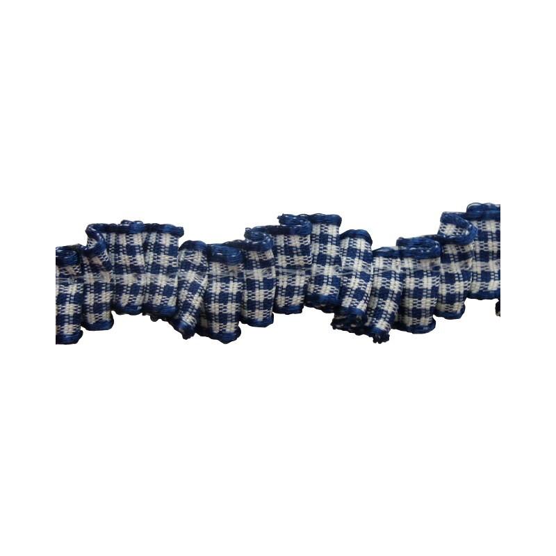Plisado zig-zag azul 1 cm